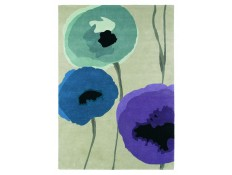 poppies indigo/purple 45705